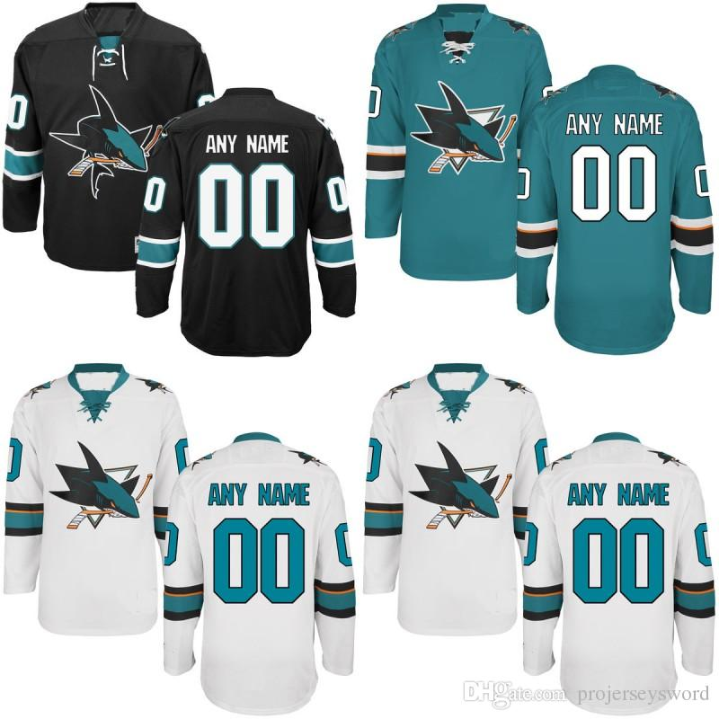 009692f35 San Jose Sharks Jersey S-5XL Personalized Customized Jerseys With ...