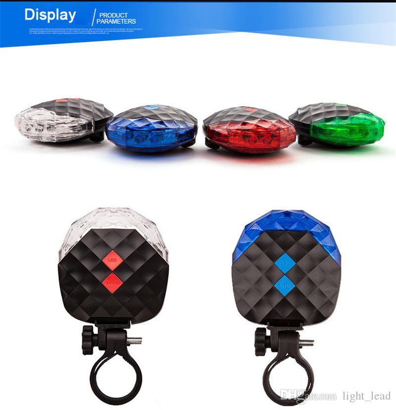 Bisiklet Işık 5 LED Gece Bisiklet Dağ Yol Bisikleti Eyer Emniyet Işık MTB Arka Işıkları Lamba Arka Işık