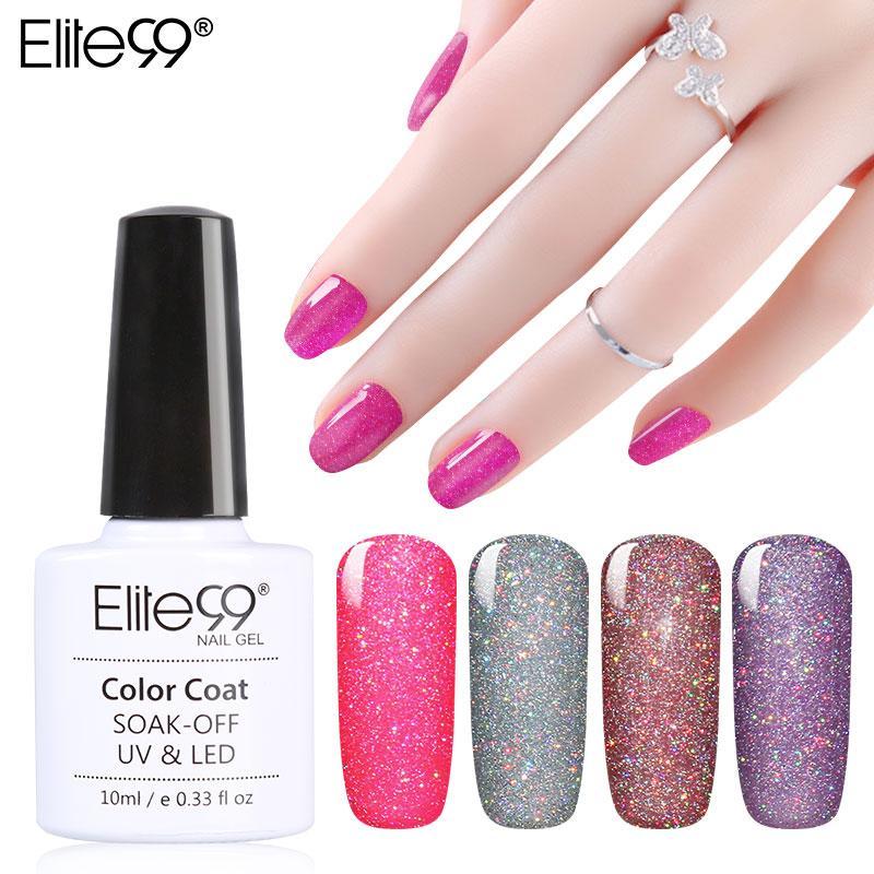 Elite99 Soak Off Gel Polish UV LED Pick Any 5 Colors 7.3ml