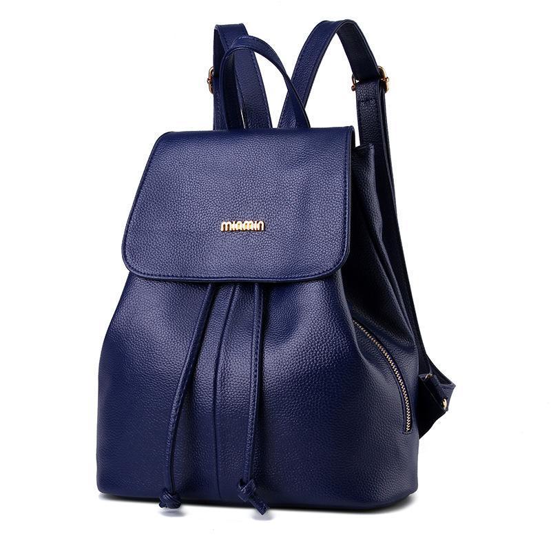 e58b77f1dfe Students Backpack Women Shoulder Bag Designer College PU Leather ...