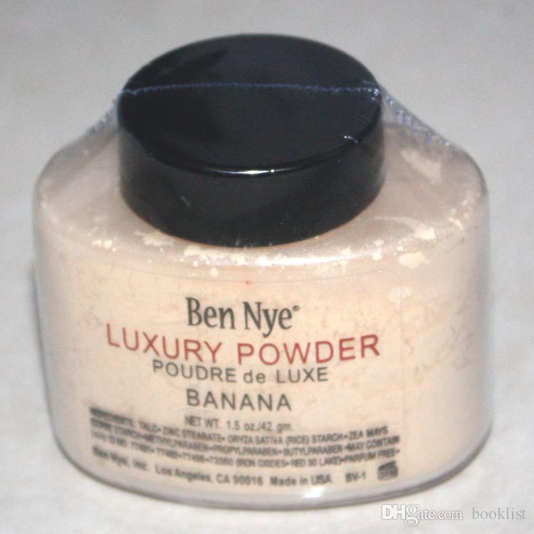 Ben Nye Luxury Powder 42g Nueva Cara Natural Polvo Suelto Impermeable Nutritious Banana Brighten polvo de larga duración 24 unids
