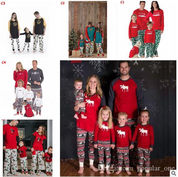 christmas pajamas family matching clothes christmas pajamas clothing sets mother and daughter father son matching xmas homewears 911 christmas outfits