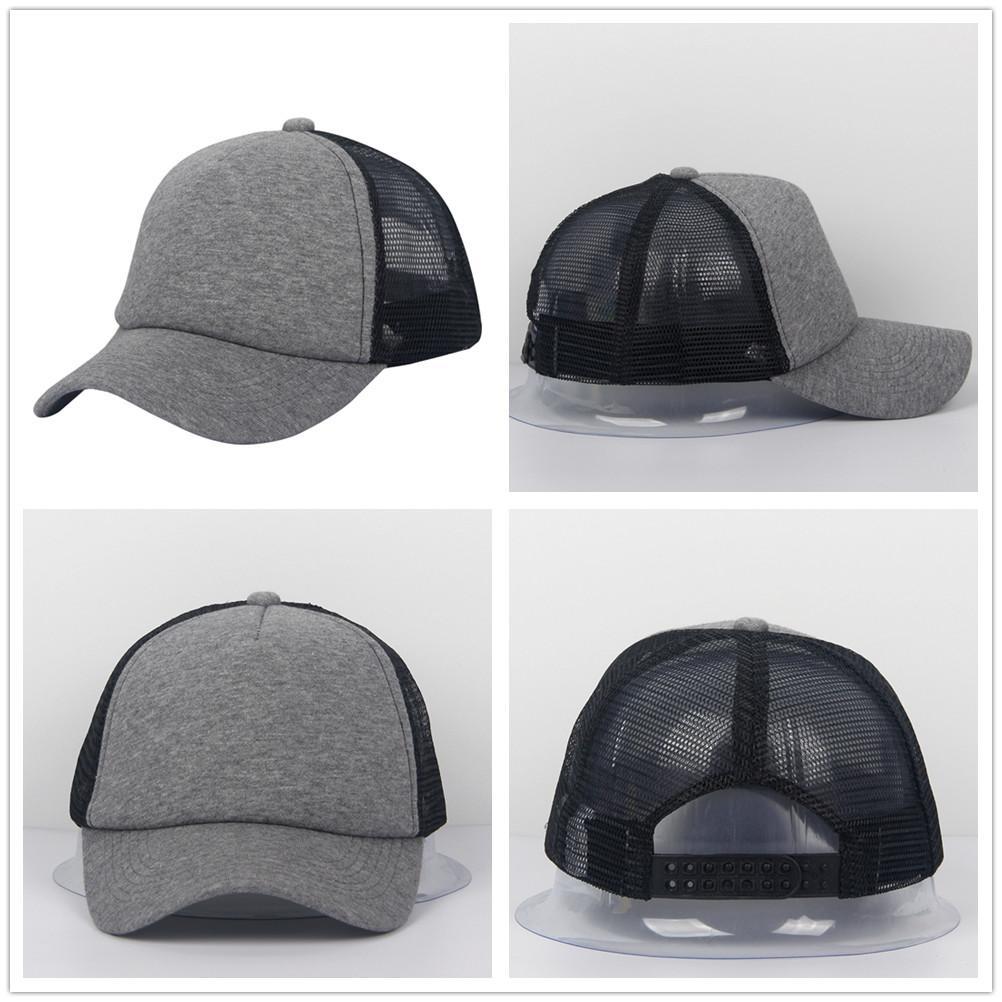 ae5d651ea8f 2017 Fashion Caps Classic Cotton Snap Back Mesh Hats Men Women Adult Unisex  Trucker Plain Curved Bill Baseball Caps Mesh Hats Snap Back Caps Trucker  Hats ...