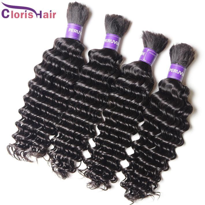 Top Deep Curly Bulk Human Hair Extensions Bulk Hair For Braiding No