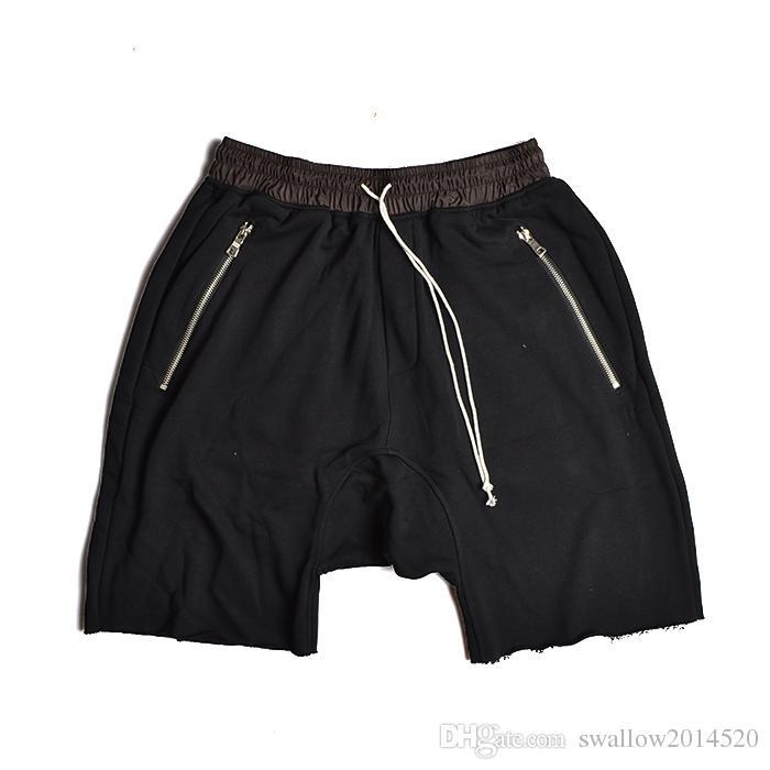 Wholesale-Fashion Man RO Style Sweat Shorts Summer Mens Capri Cotton Loose Kanye West Fear of God Shorts for Men Justin Bieber