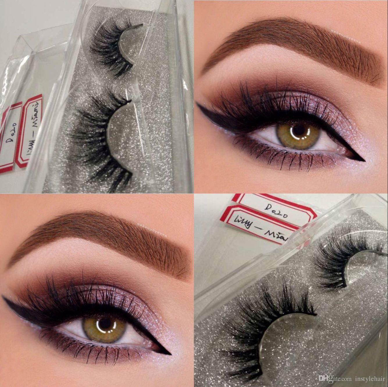 ef75fd866d3 Premium 100% Real Siberian Mink Strip Eyelashes 3D Mink Lashes Miami Lashes  Semi Permanent Eyelash Extensions Applying False Eyelashes From Instylehair,  ...