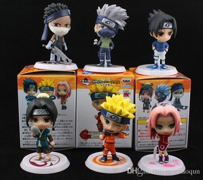 Оптово-Новый дизайн 12шт ПВХ аниме Наруто фигурку Шикамару, Какаши, Саске модель игрушки для коллекции