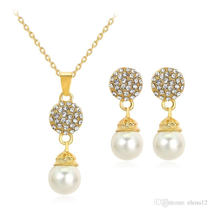 Discount Natural Freshwater Pearl Jewelry Set Pendant Necklace And ...