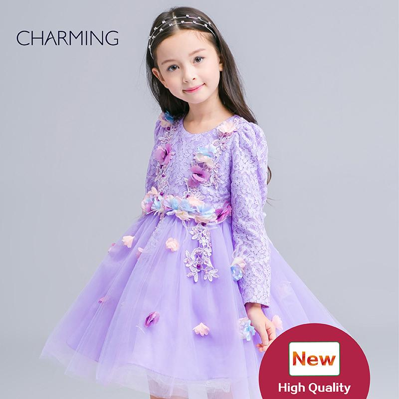 Girls Dresses Children Girl 7th Birthday Party Dress Child Dress Up