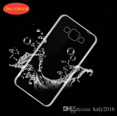 Şeffaf şeffaf Yumuşak TPU Jel Kılıf Samsung Galaxy S3 S4 S5 S6 S7 kenar S3 / S4 / S5 mini A3 A5 A7 2016 Not 3 4 LINGDONGDA Kapak