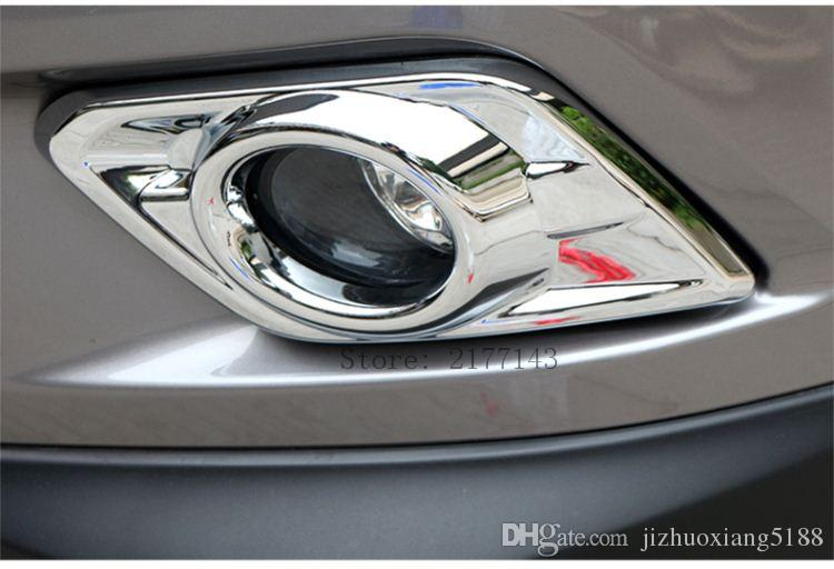 ABS Chrome Front Head Fog Light Lamp Cover for 2014 2015 2016 Nissan X-Trail X Trail Fog Light Cover Trim Car styling Accessories