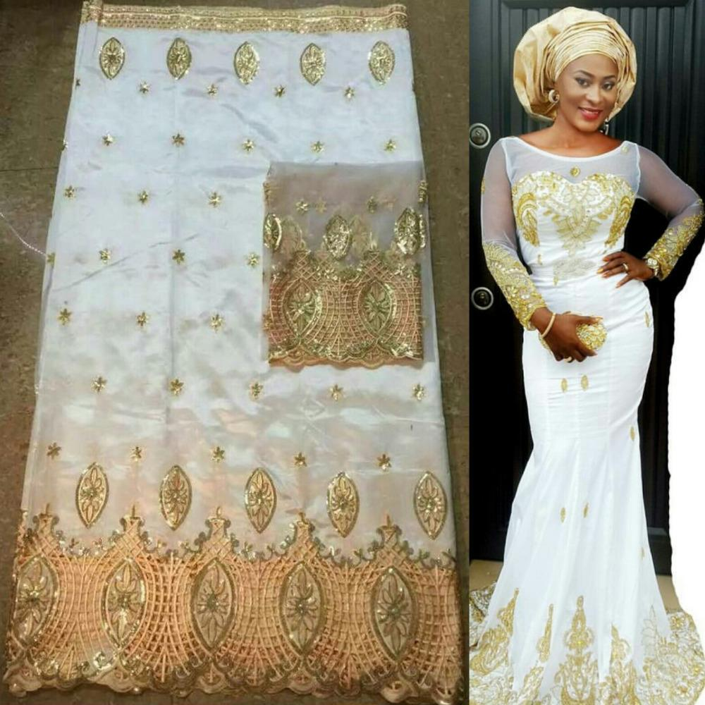 Online cheap wholesale white george lace fabric indian for Georges chakra gold wedding dress price