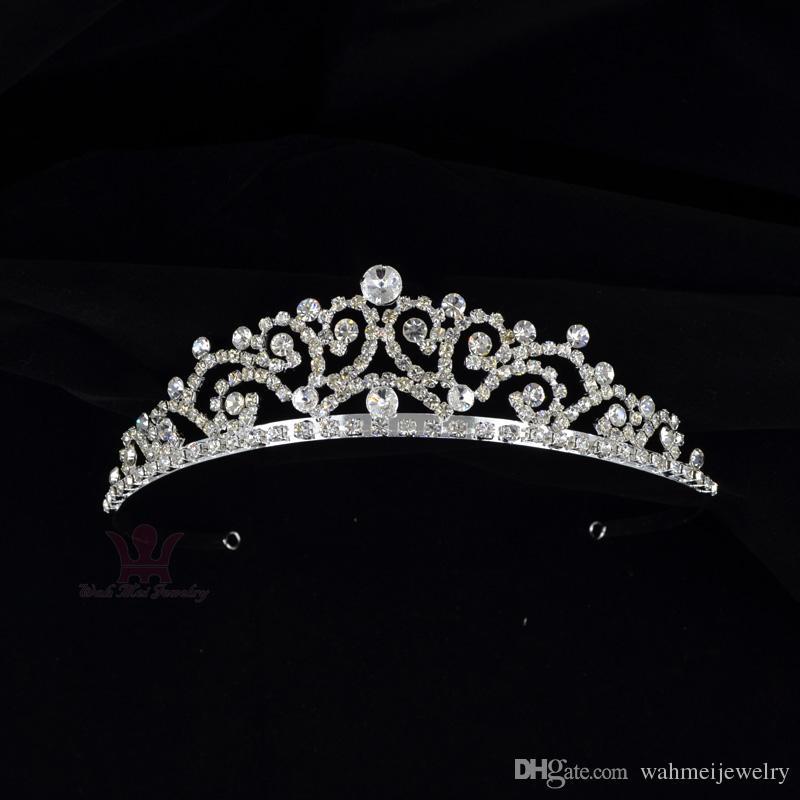 Bridal Wedding Tiaras Rhinestone Crown Hand Made High Grade Quality ... 6083223ac4aa