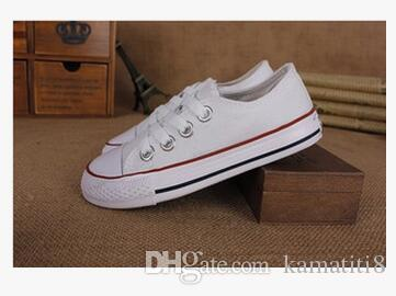 style classique Toutes Les Taille 24-34 Basse haute Style haute Style Toile Chaussures Sneakers enfants garçons filles casual Chaussures Casual Chaussures