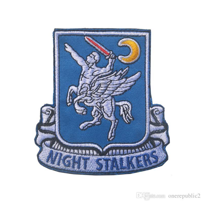 U.S.Army 160th Operações Especiais do Regimento de Aviação SOAR Morale Remendo Emblema Tático HookLoop Bordado Emblema Atacado navio livre
