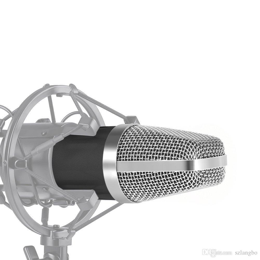 DJとスタジオ記録のための電気コンデンサーマイクロフォンスーツコンピュータ/会議/ KTV / BARなどのファンタムパワーマイクを必要としない