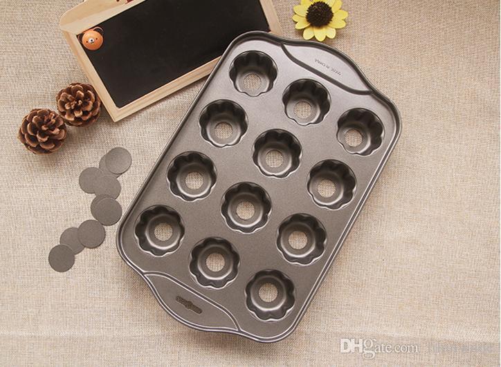 Nonstick 꽃 모양 팬, 12 캐비티, 이동식베이스