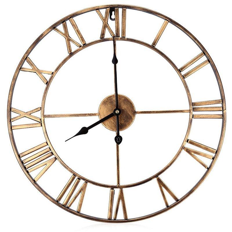 Best Quality 185 Inch Oversized 3d Iron Decorative Wall Clock Retro