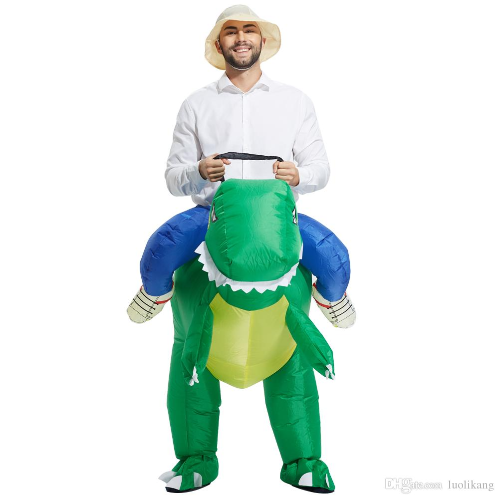 Dinosaur Costume Gonflable Costume Déguisement Costume Polyester Imperméable Costume Halloween Costumes Mignon Design