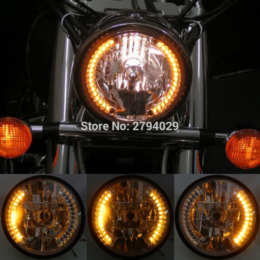 2019 8 Inch H4 Motorcycle Headlight Led Turn Signal Indicator W Wiring From China Bestselling Bracket For Universal Custom