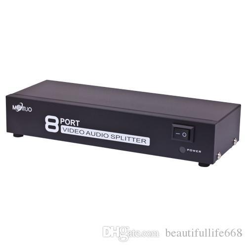 MT-108AV 8 Limanlar 1 8 Out 8 yolları 3 RCA AV Ses Video TV Kutusu HDTV DVD PS-3 Splitter Amplifikatör