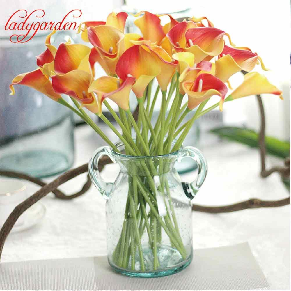 Real touch artificial flower decor calla lily artificial flowers for real touch artificial flower decor calla lily artificial flowers for wedding decoration event party supplies wholesale artificial flowerswedding izmirmasajfo Choice Image