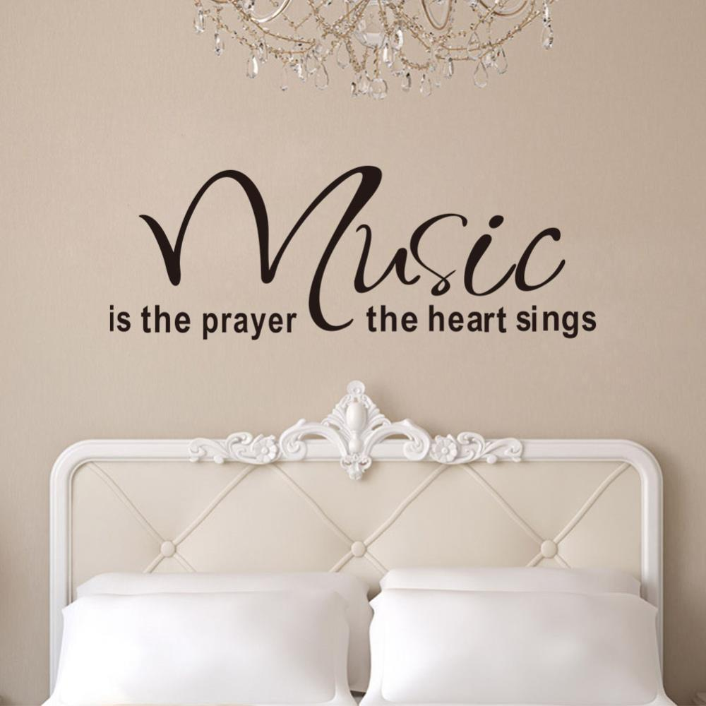 Quote Wall Decals 2017 New Designs Music Is The Prayer The Heart Vinyl Wall  Stickers Home Decor Wall Art Decals Sticker Wall Decor Sticker Wall  Decoration ...