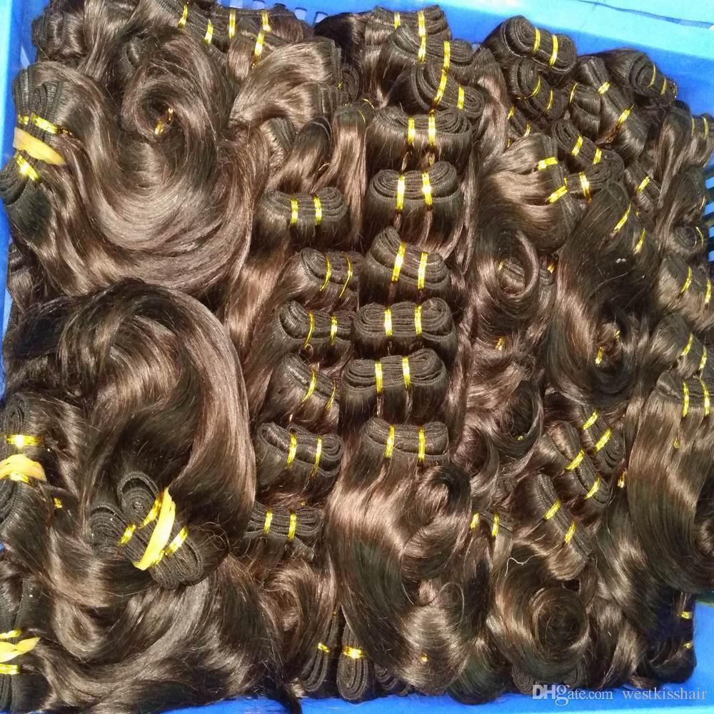 Sıcak Satış Ombre Brezilyalı İnsan saç Uzatma 24 adet / grup Demetleri Örgüleri Toptan Yeni Satış DHgate