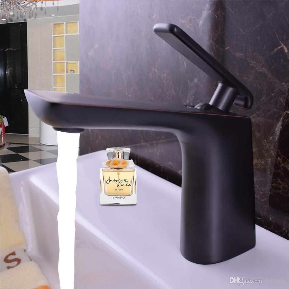 2018 Decoration Black Basin Faucet One Handle Ceramic Valve Basin ...