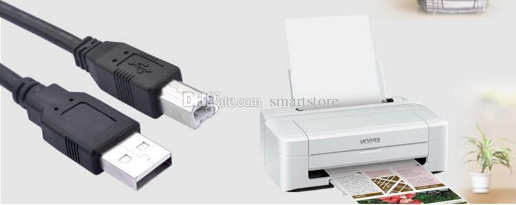 التي / الكثير USB خط الطباعة A / B خط طابعة أسود 1.5 متر مربع الفم عدد الطابعة سطر العالمي