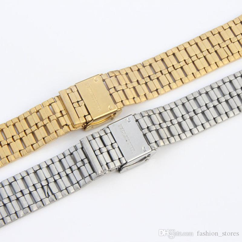 SILVER Stainless Steel Bracelet Watch Band For Standard Watch 15mm 16mm 17mm 18mm 19mm 20mm 21mm 22mm