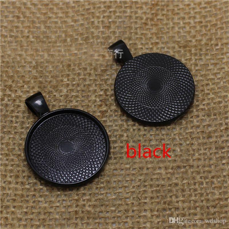 25mm Dimensioni Interno Cameo Cabochon Base Impostazione Charms Ciondolo Vassoio Gioielli Blanks Componenti Risultati Gioielli FAI DA TE