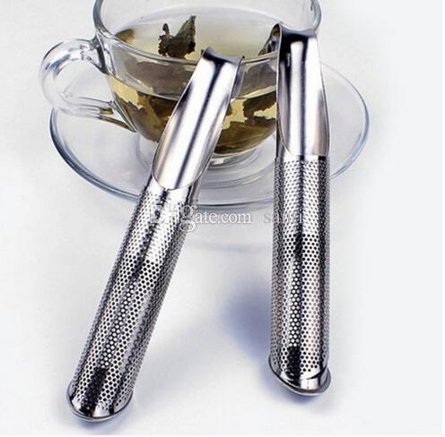 Popular Stainless Steel Pipe Design Strainer Tea Infuser Touch Feel Good Holder Tool Tea Spoon Infuser Filter Kitchen Accessories