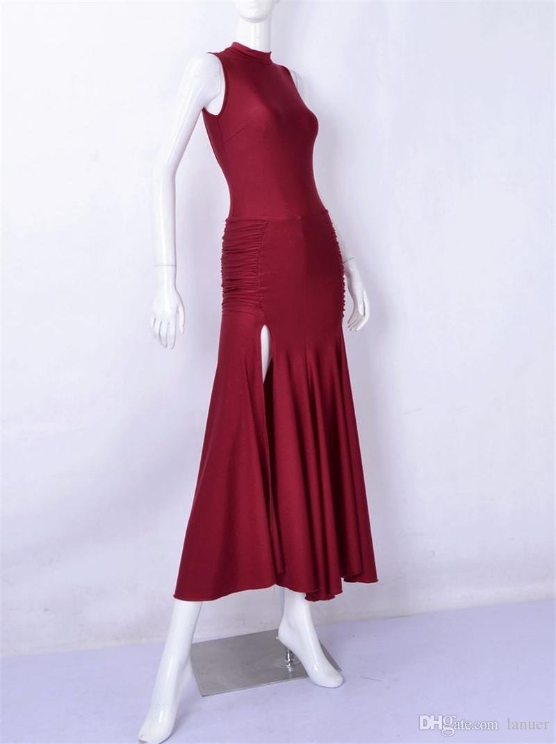 NOUVEAU danse moderne sexy robe dos nu adulte valse tango Foxtrot quickstep costume de compétition vêtements standard danse de salon jupe custom01