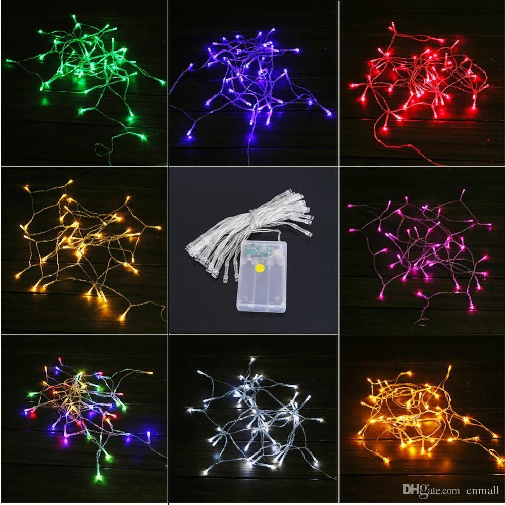 40 Led String Mni Fairy Lights 3xaa Battery Power Operated White Warm White Blue Yellow Green Purple Christmas Lights Christmas Decoration Exterior String