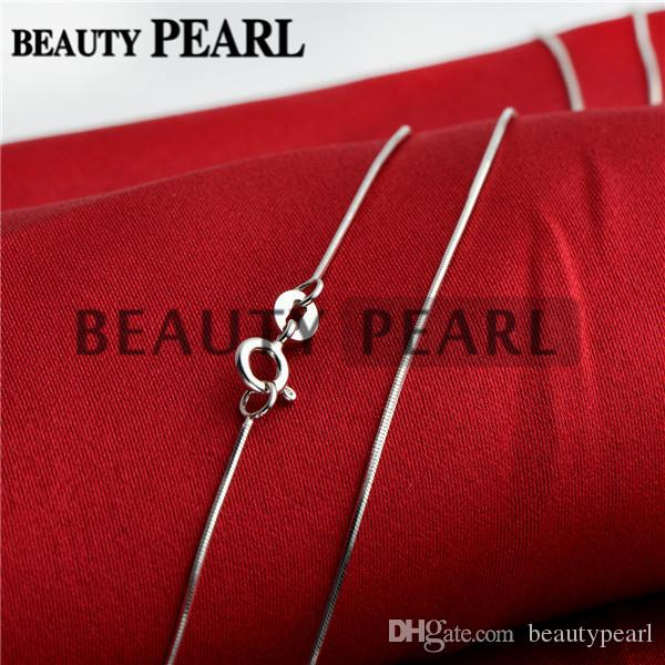 Sterling Silver DIY Jewelry Necklace Collar 0.7mm 925 Sterling Silver Snake Chain Wholesale