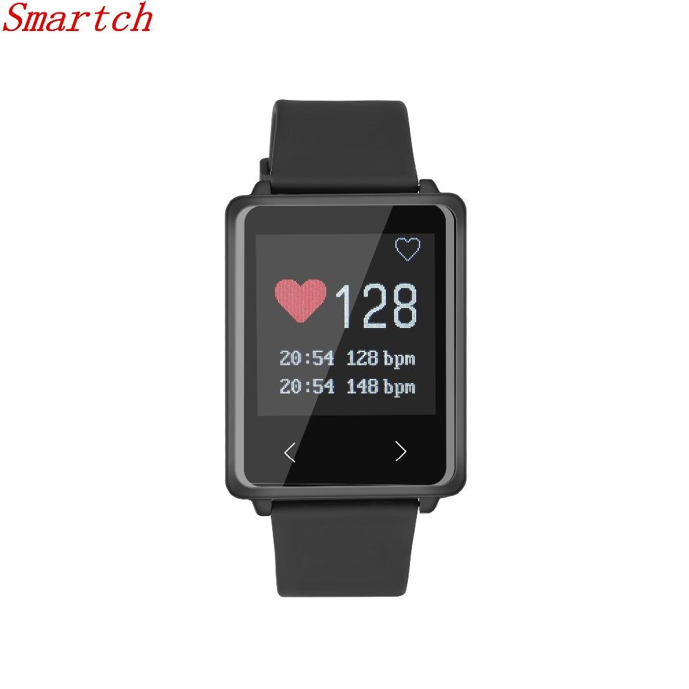 Wholesale- Smartch TK002 Smart Wristband Heart Rate Monitor Smart Bracelet Fitness Tracker Smartband for IOS Android Smartphone VS Xiaomi M