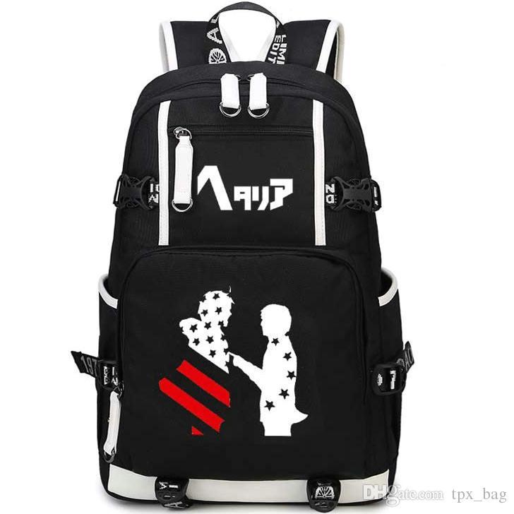 56aadb30cf4 Hetalia Backpack Unique Design Daypack APH Oxford Schoolbag Cartoon Rucksack  Sport School Bag Outdoor Day Pack Oxford Backpack Online with  41.77 Piece  on ...