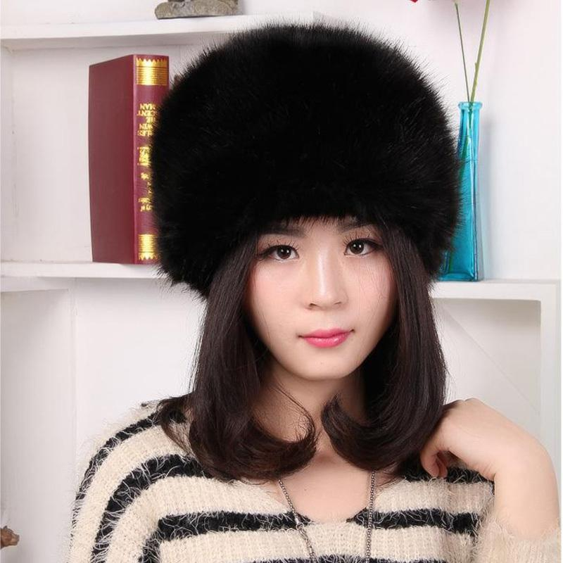 5606f1fa4f9 Wholesale- Faux Fur Bomber Hat Winter Solid Color Women Hat Russian ...