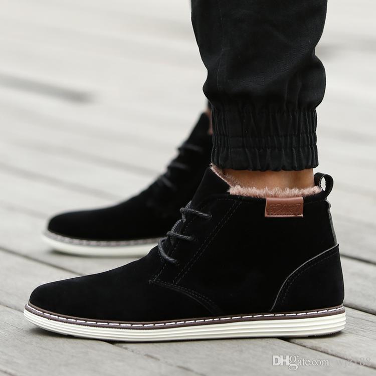 New Winter Plus Velvet Warm Casual Martin Boots