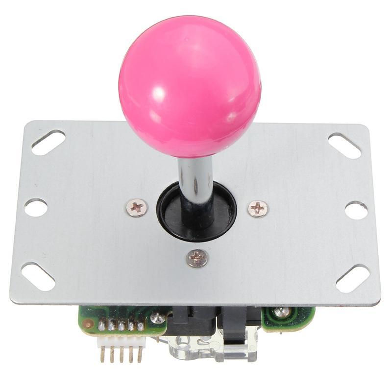 DIY Griff Arcade Set Kits 5 Pin Joystick 24mm / 30mm Drucktasten Ersatzteile USB Kabel Encoder Board PC JoystickButton