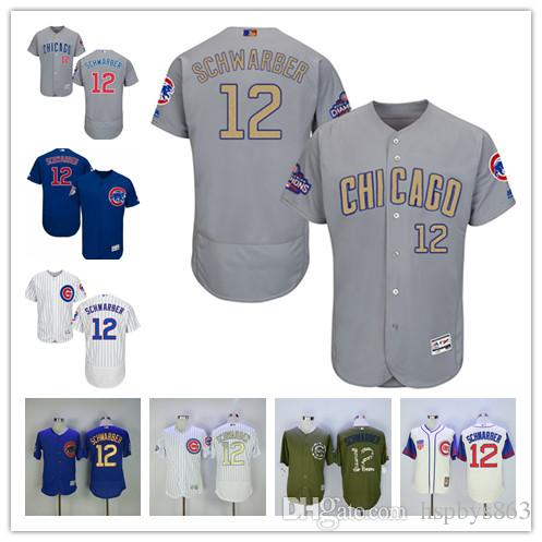 player jersey 2017 2017 mens chicago cubs 12 kyle schwarber jersey home white road bule grey creme f
