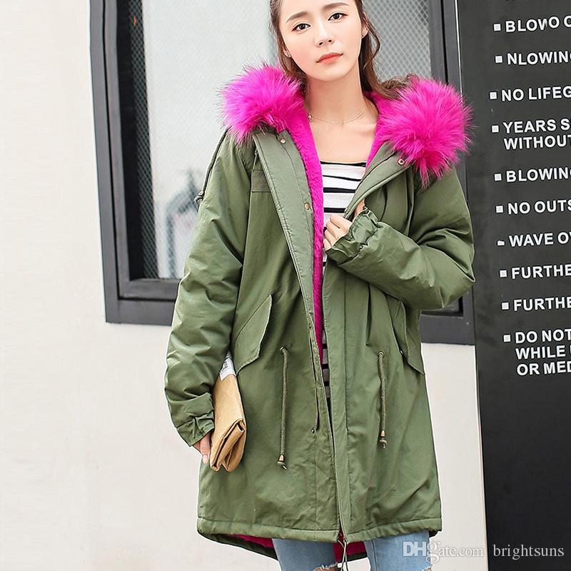 2018 High Quality Fashion Snow Wear Large Fur Collar Ladies Coats ...