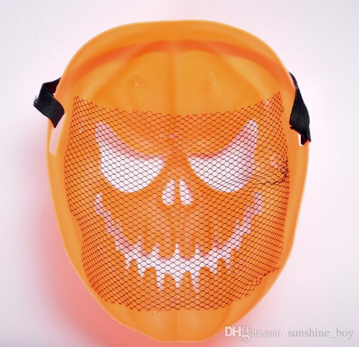 2017 new Pumpkin lantern Human skeleton Halloween Tricky toys Children mask Lovely pumpkin Suitable for playing decoration
