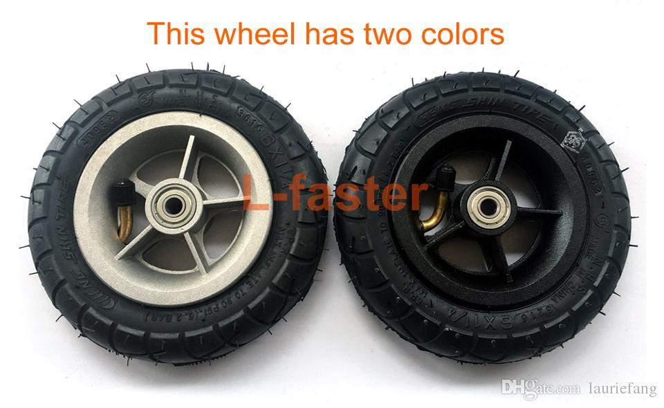 알루미늄 합금 허브와 150MM 스쿠터 인플레이션 휠 내부 튜브 전기 스쿠터 6 인치 공압 타이어와 6