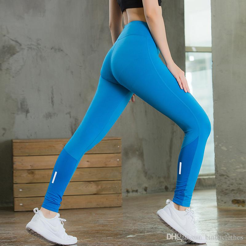 f65fb33b88b73e 2019 Running Compression Trousers Skinny Sports Fitness Tight Gym Training  Yoga Leggings Women Night Jogging Pant Girls Skinny Yoga Pants From  Binbaclothes, ...