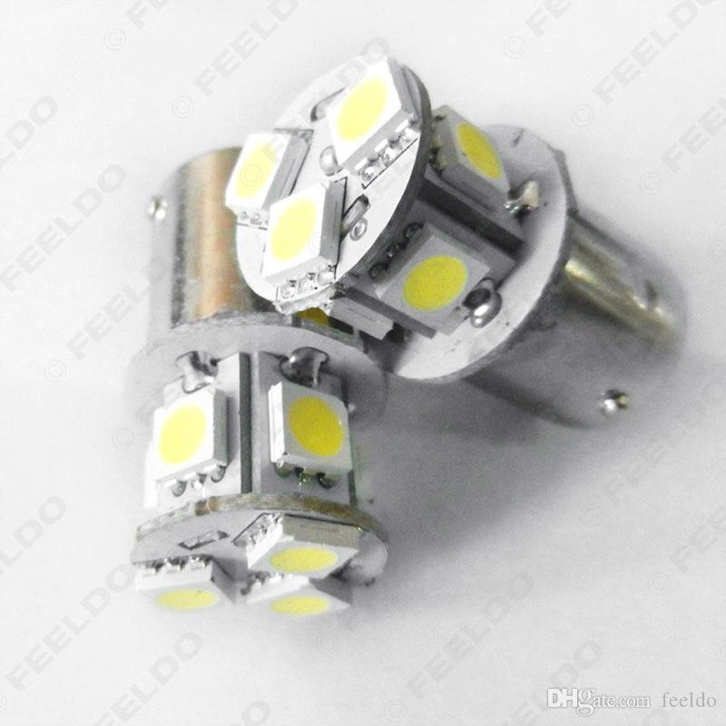 FEELDO Blanc Pur 12V 1157 BAY15D 5050 Puce 8SMD Sauvegarde De Voiture Brouillard Signal Arrière LED Arrière Lumière # 1688