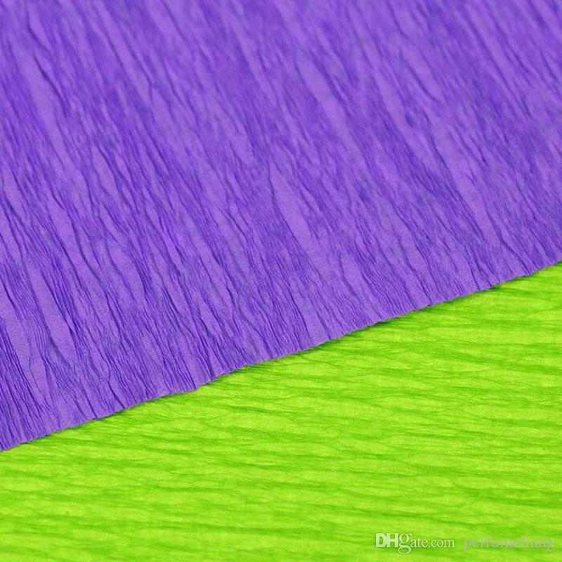 250 * 50 cm / Roll DIY Flor / Regalo Decoración Envoltura de Embalaje Papeles de Crepe Materiales Hechos A Mano de Papel Arrugado ZA3952