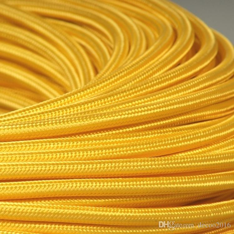 2018 5mYellow Coloured Fabric Lighting Cable 16 Colours Edison Vintage Lighting Power Cord L& Wire From Decoo2016 $9.61 | Dhgate.Com  sc 1 st  DHgate.com & 2018 5mYellow Coloured Fabric Lighting Cable 16 Colours Edison ... azcodes.com