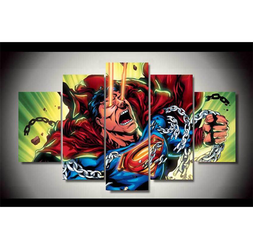 Großhandel Superman Justice League, 5 Stück Wohnkultur Hd Gedruckt ...